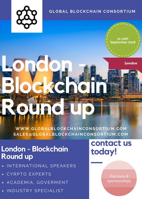 London – Blockchain Round up 2018 11-12th September 2018