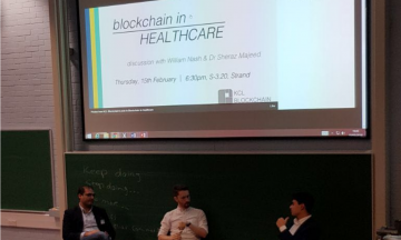 Healthcare Blockchain event in Kings College